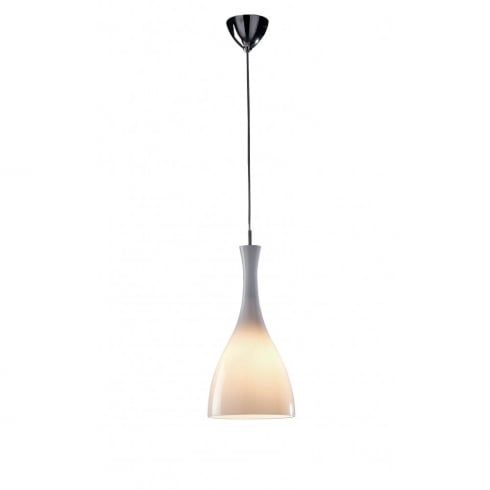 Dar lighting tone ton862 polished chrome pendant white cup glass shade dar lighting from
