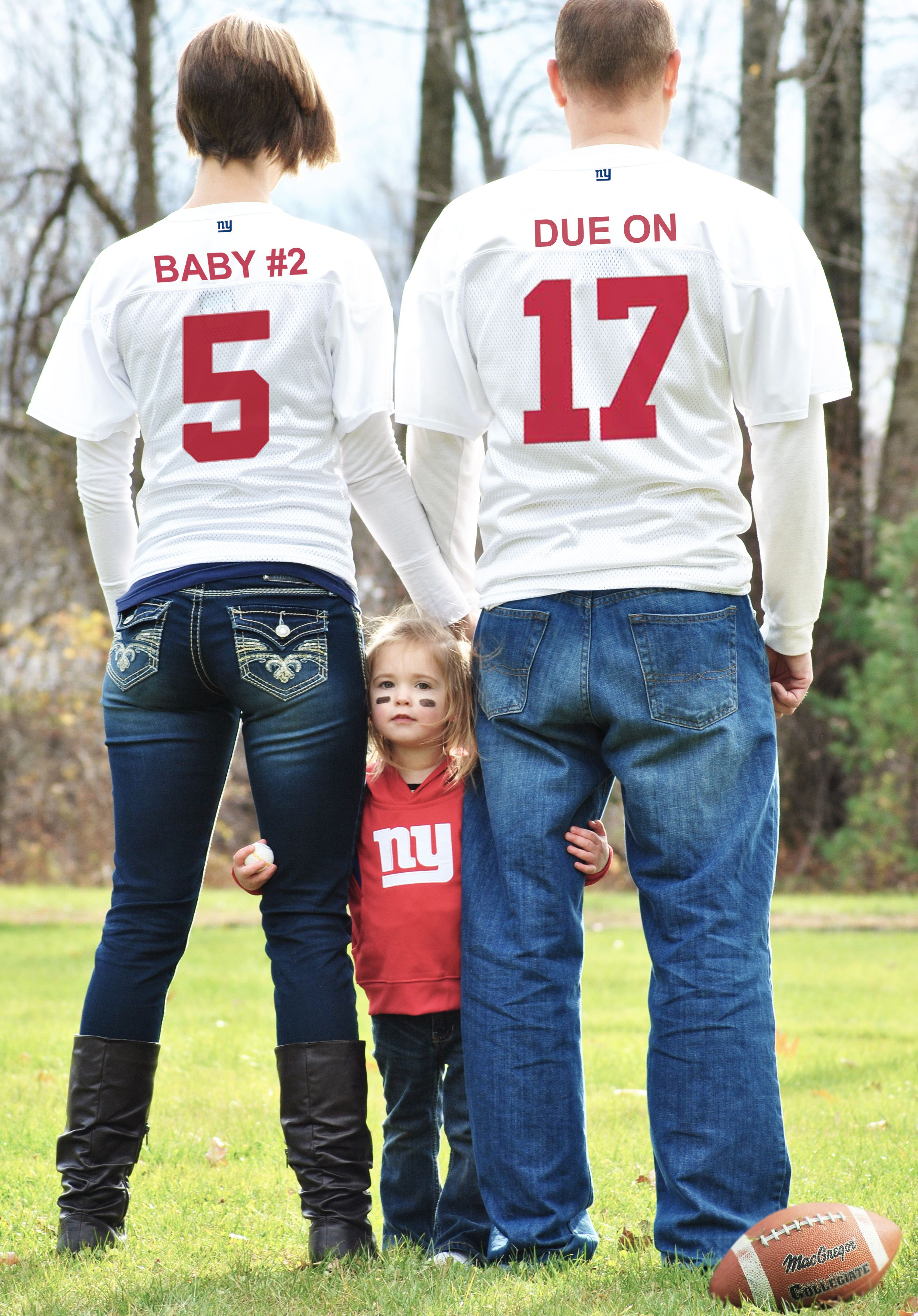 Adding another player to our familys roster Our pregnancy – Football Birth Announcements
