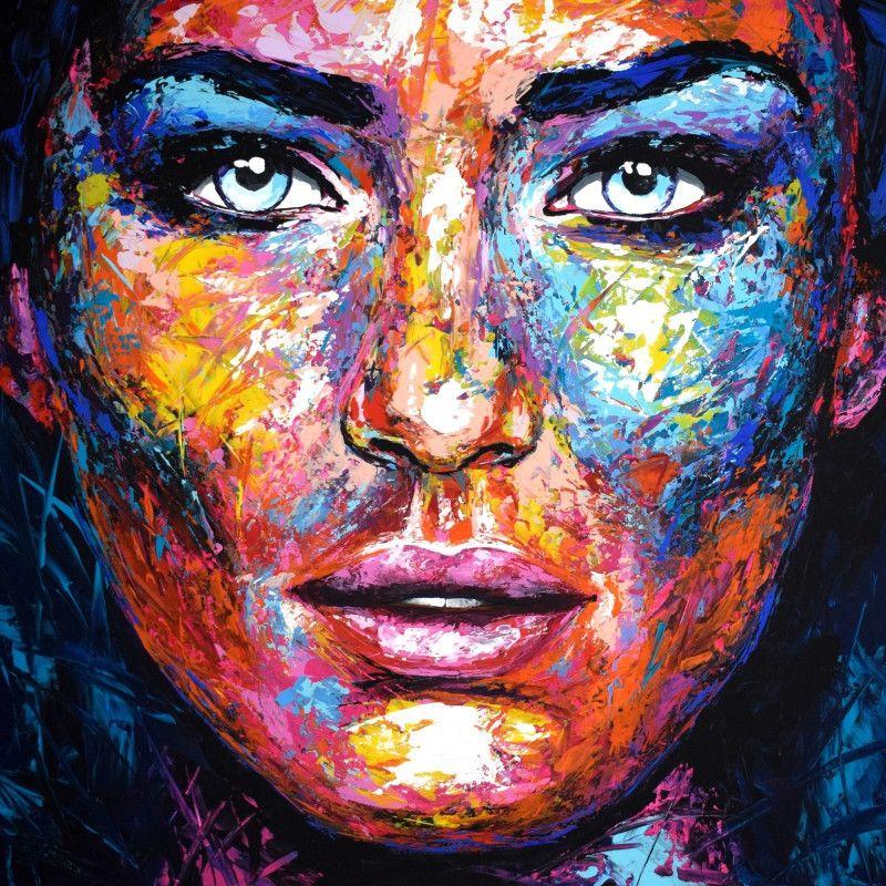 Peintures Acryliques - KAZoART, galerie d'art en ligne | Portrait peinture,  Peinture, Portrait abstrait