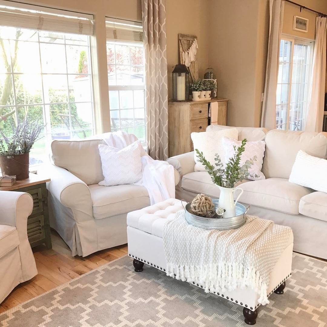Inexpensive Cottage Style Living Room Furniture From Ikea: White Living Room Furniture / Ikea Design By Christi At