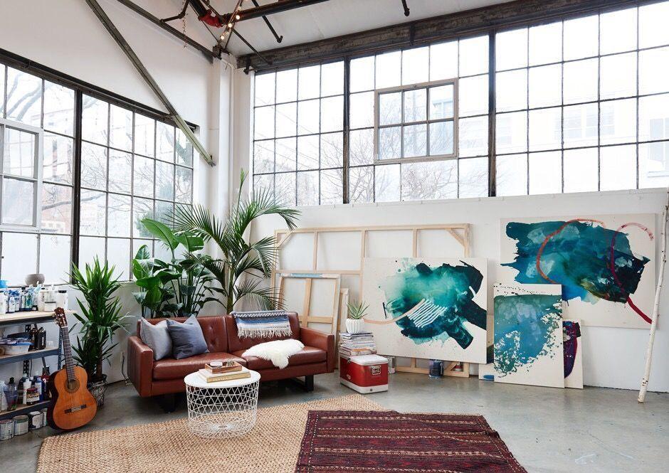 Artsy Studio Apartment Loft Decorating