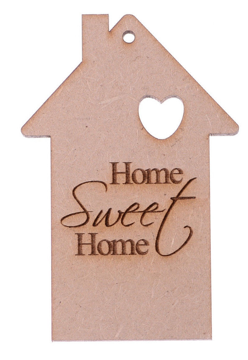 Love Bird House New Home MDF Craft Shapes Wooden Blank Gift Tag Decoration Laser