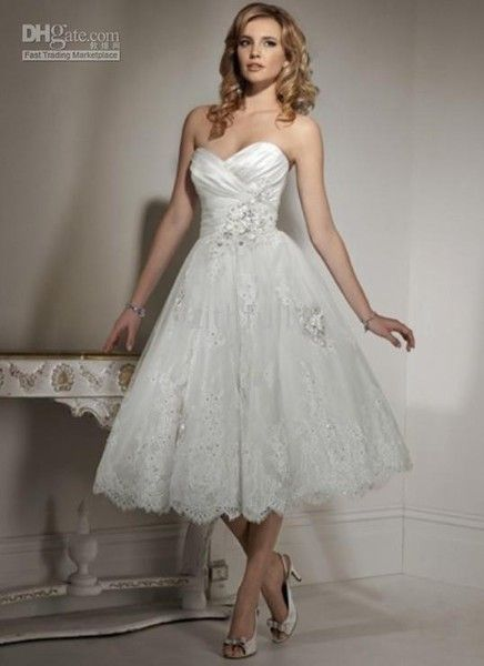 Gorgeous! What do you all think of short wedding dresses?
