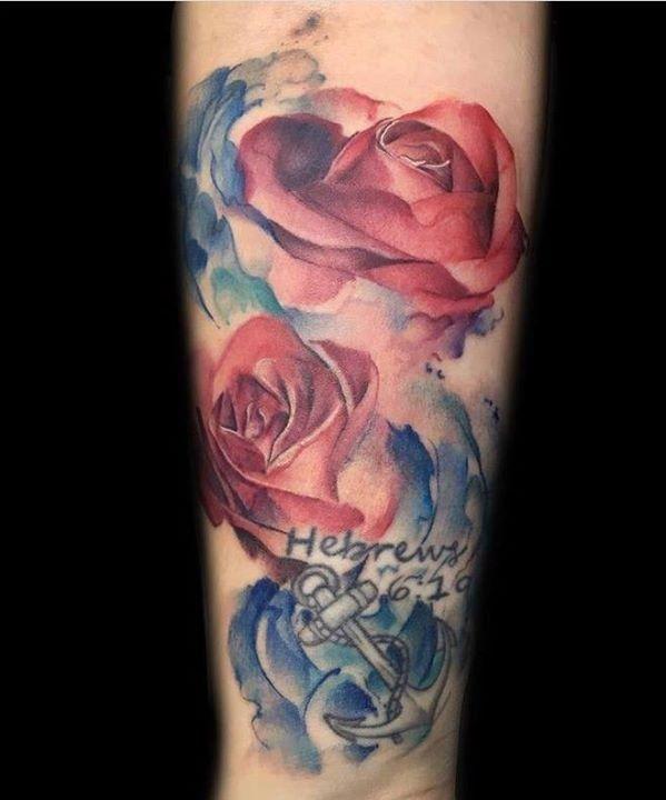 Austin Watercolor Tattoo: Watercolor Tattoo By Austin From Divinity Tattoo