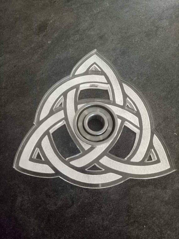 Triquetra Unique Fid Spinner Sacred Geometry
