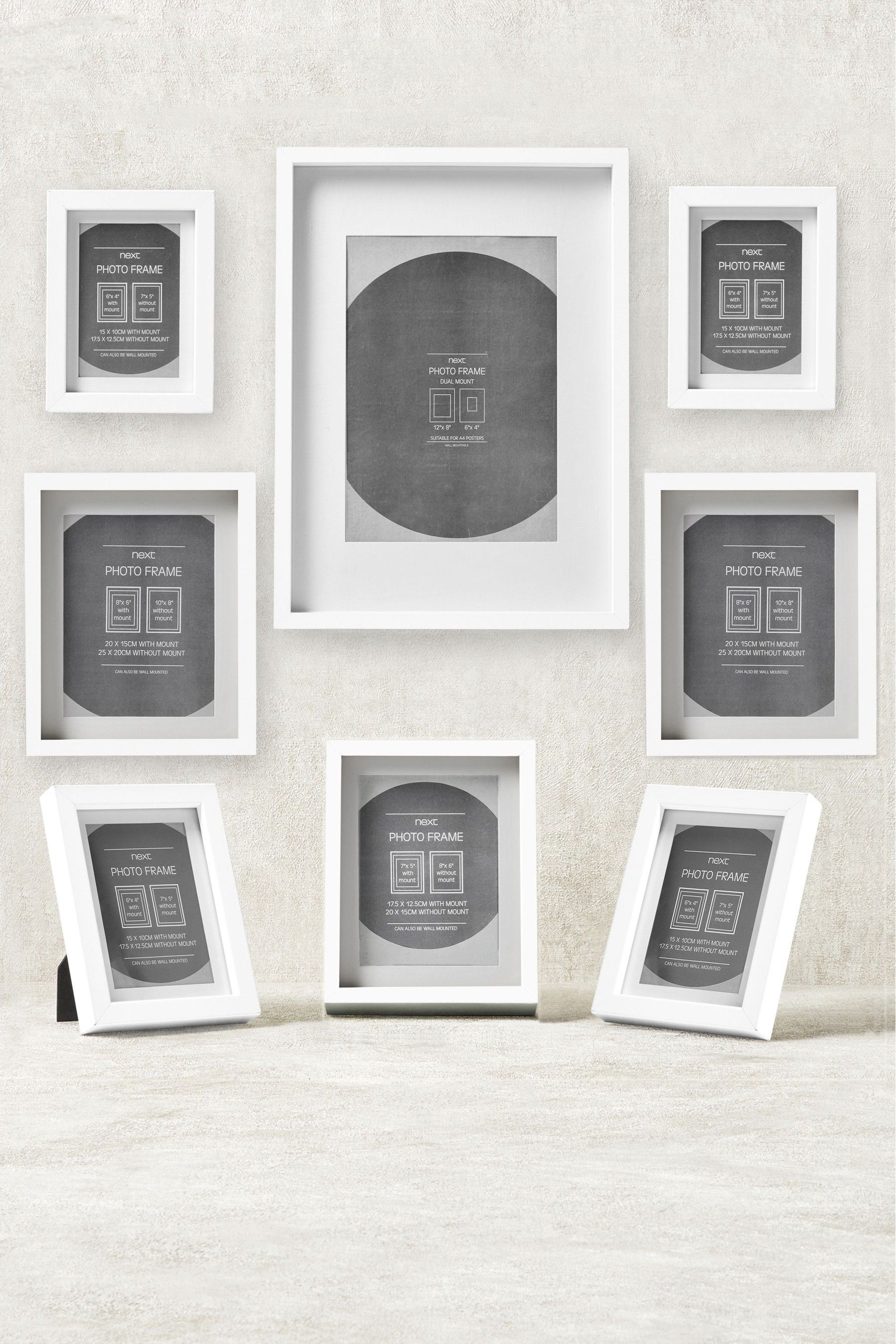 Next 8 Pack Gallery Frames White Gallery Frames Buy Picture Frames Multi Picture Frames