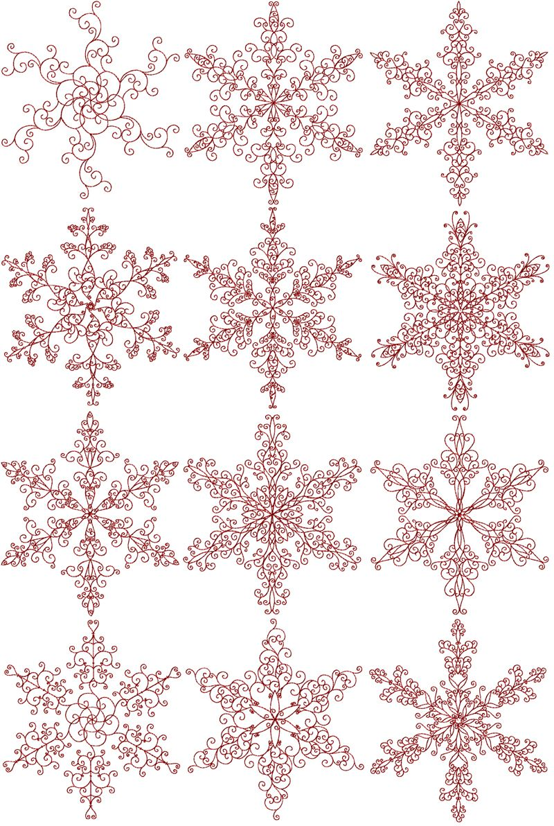 REDWORK embroidery snowflakes | Embroidery & Patterns | Pinterest ...