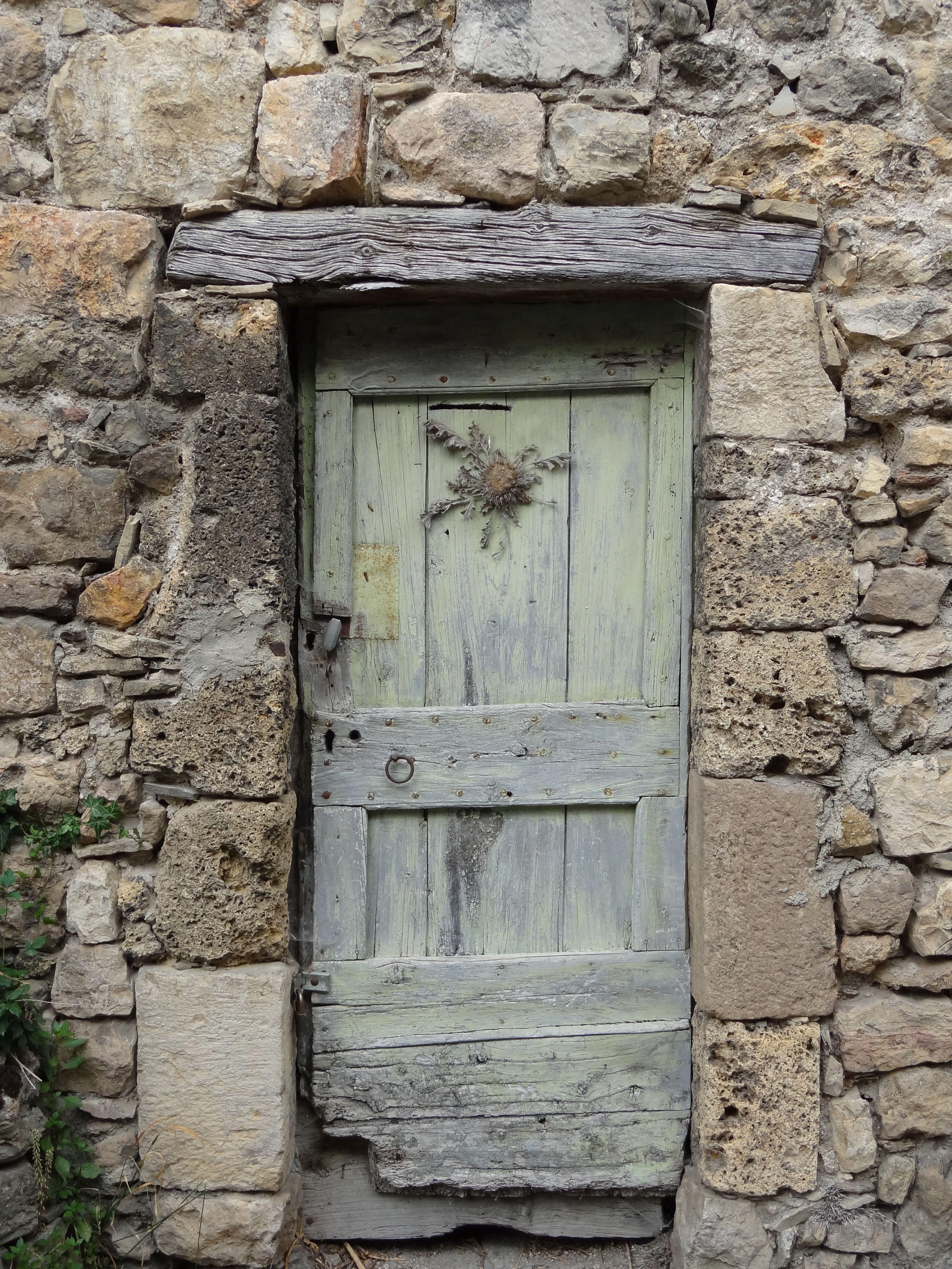 France Millau Aveyron Rustic Wood Doors Gorgeous Doors Wooden Doors
