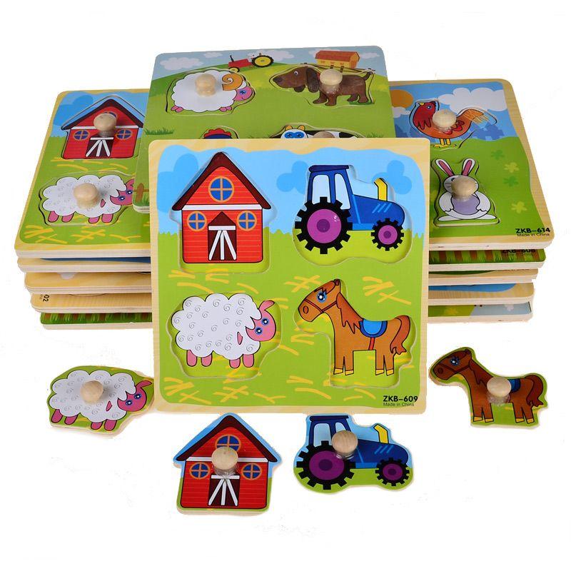 Pequenos Animais De Madeira Dos Desenhos Animados Garra Botao Peg Puzzles Toy 14 8 14 8 0 8 Cm Em Puzzles De Brinquedos Hobbies No Ali Cartoons Dieren Puzzel