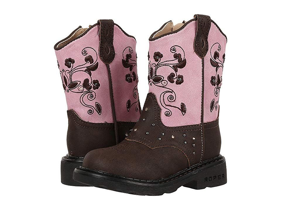 46882720994 Roper Kids Western Dazzle Lights (Toddler) Cowboy Boots Brown ...