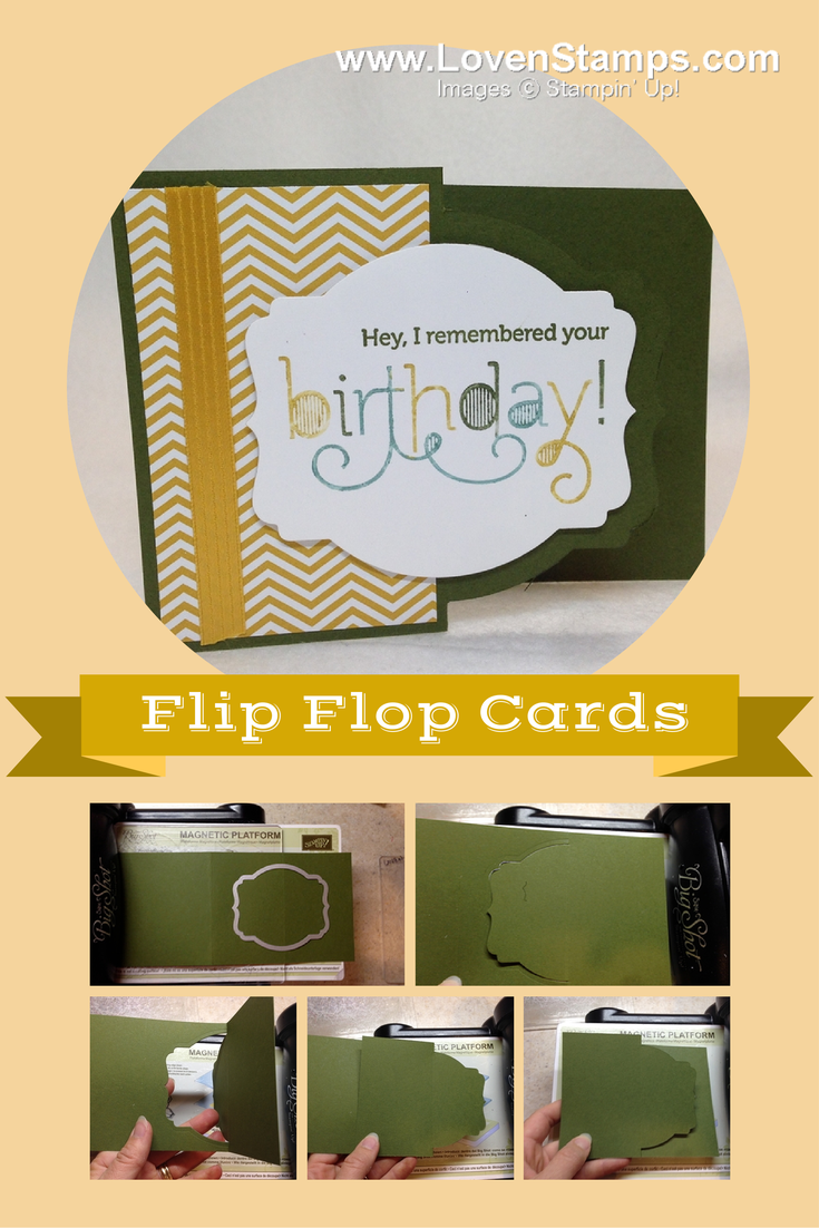 3 Easy Steps Flip Flop Cards With Your Big Shot Lovenstamps Flip Flop Cards Fun Fold Cards Fancy Fold Cards