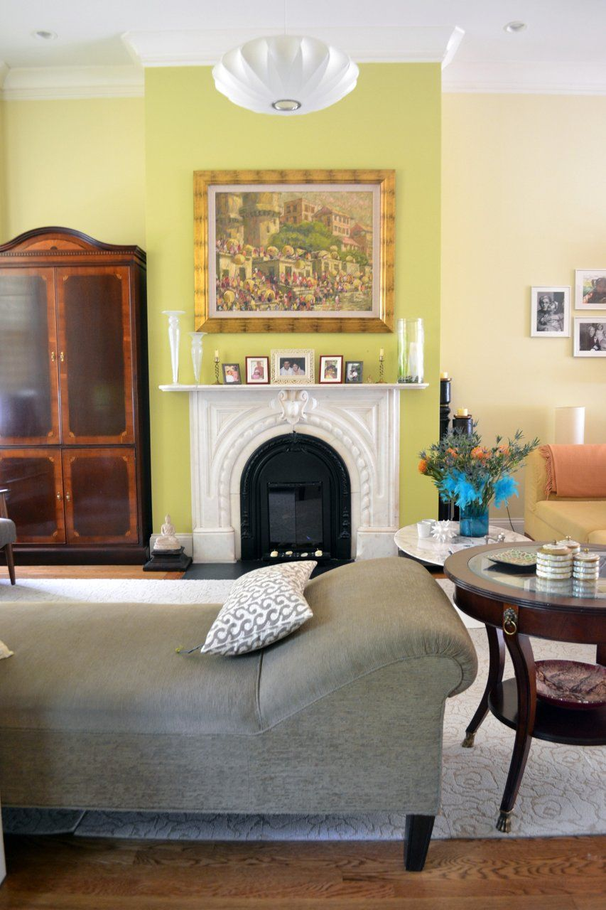 Seema's Global Eclectic Rowhouse Green wall paint colors