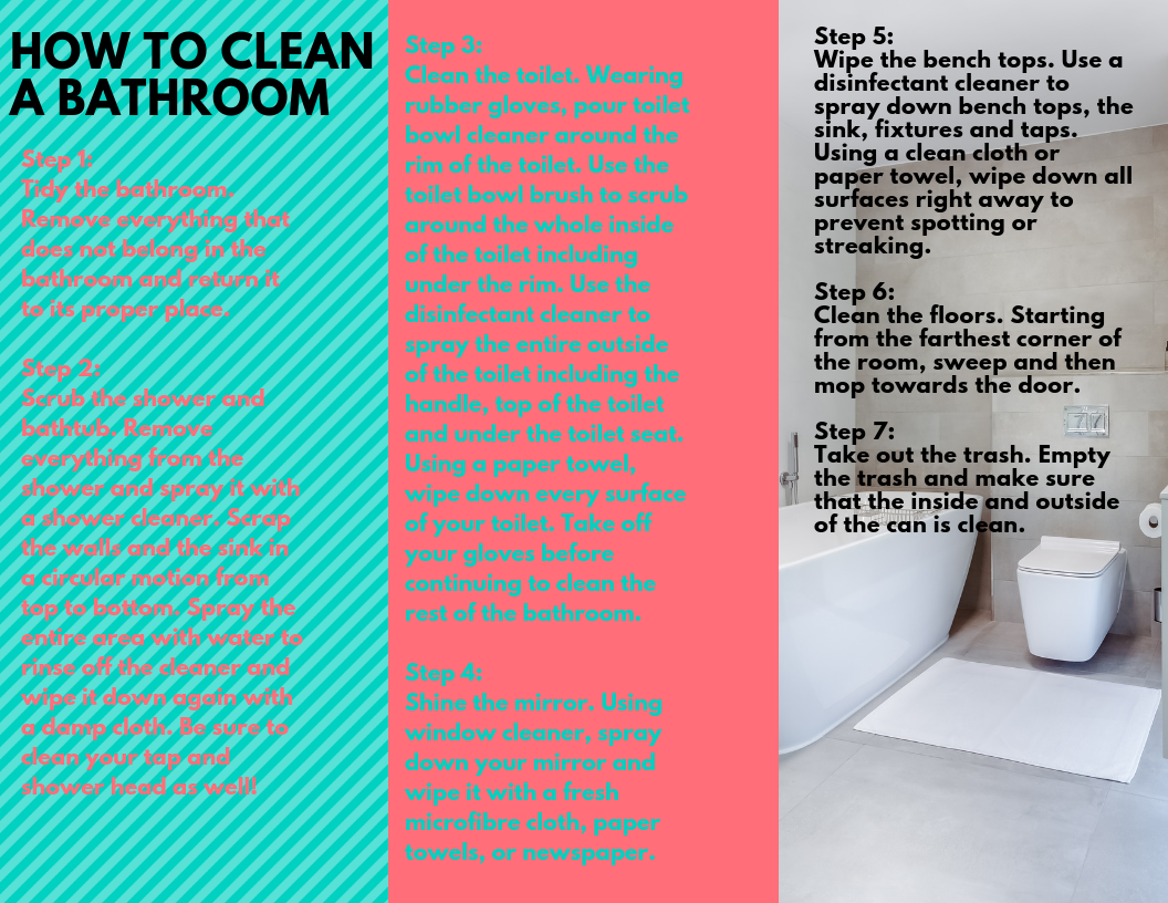 How To Clean A Bathroom Cleaning Clothes Cleaning Bathroom