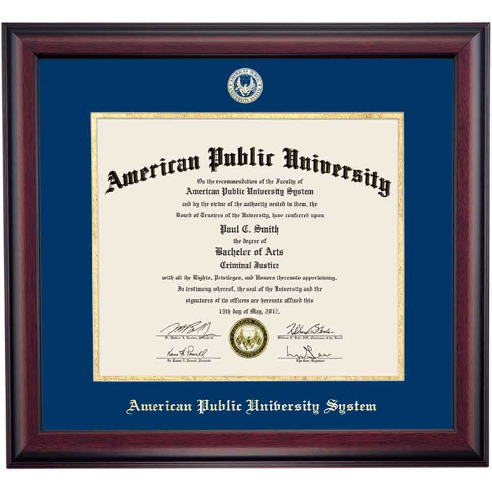 American Public University System School Color Traditional Diploma ...