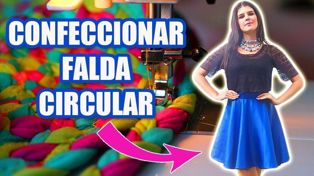 4ff6c5be9 COSER Y CONFECCIONAR FALDA CIRCULAR CON PRETINA MUY FÁCIL!! DIY ...