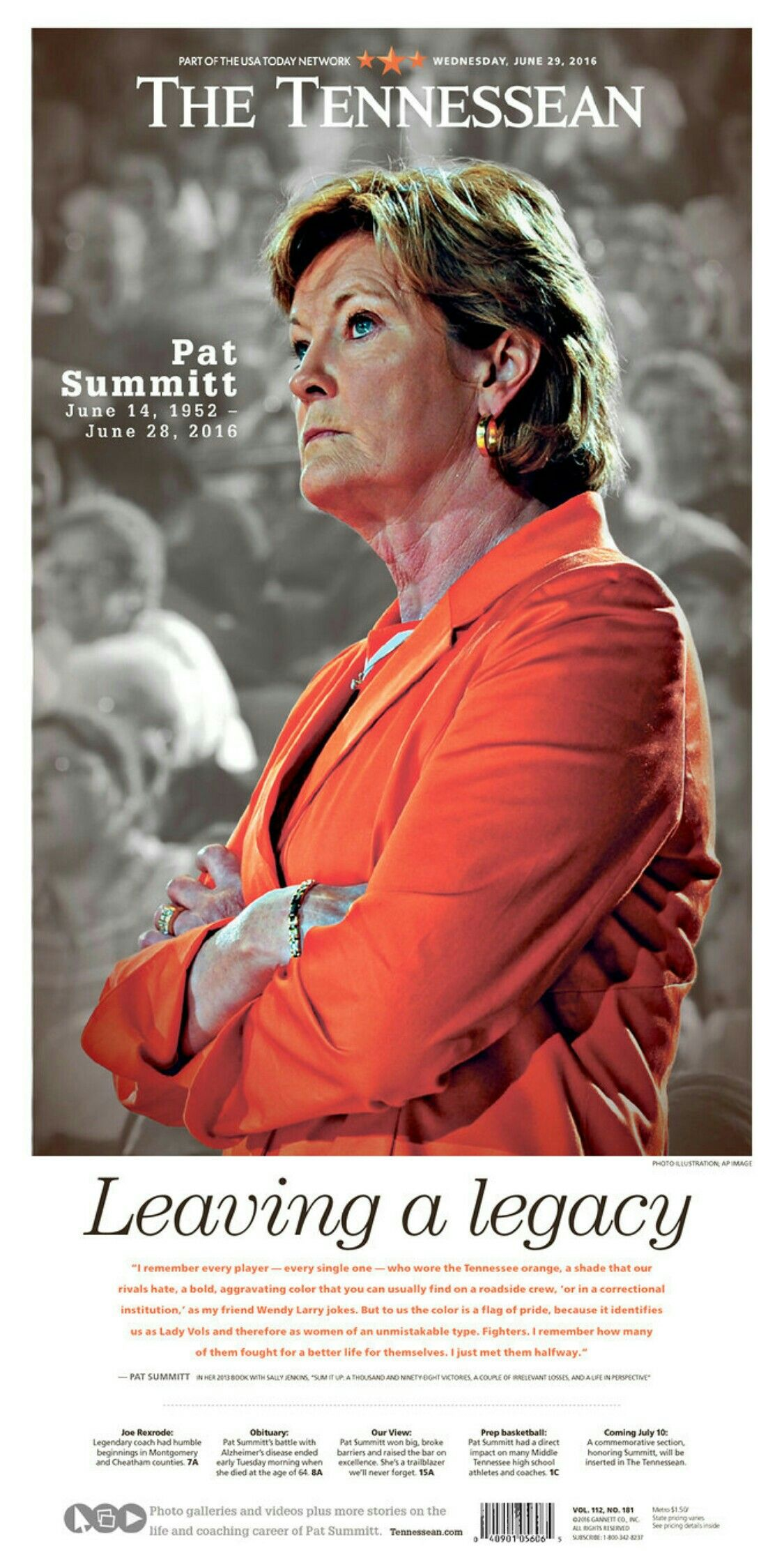 Pat Summit (June 14, 1952 June 28, 2016 (With images