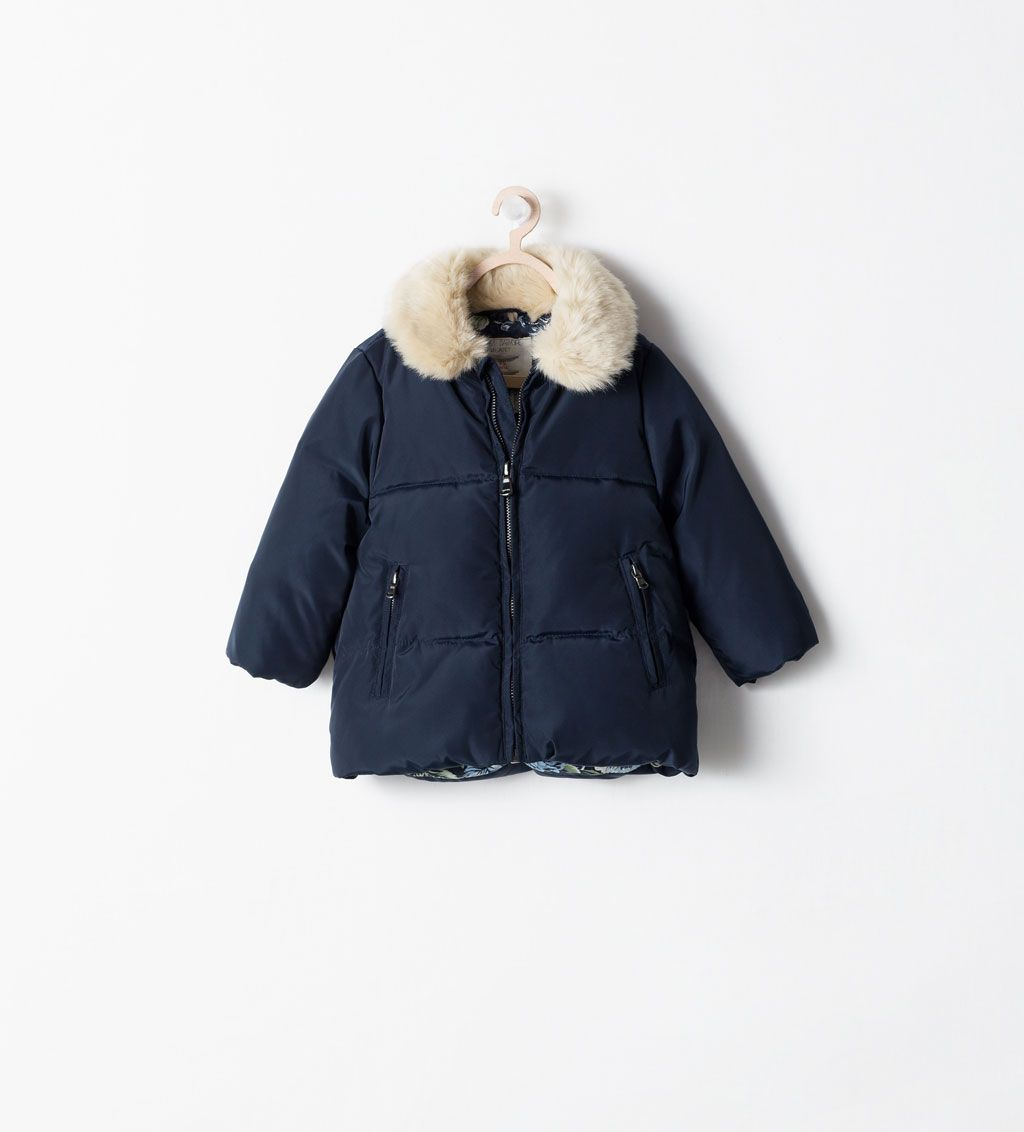 64dad30a0aca9 DOWN JACKET WITH REMOVABLE COLLAR from Zara Zara Enfant