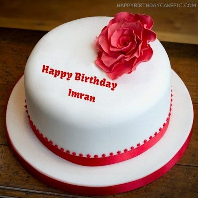 23 Inspiration Image Of Birthday Cake Pic With Name New Imran For 2018
