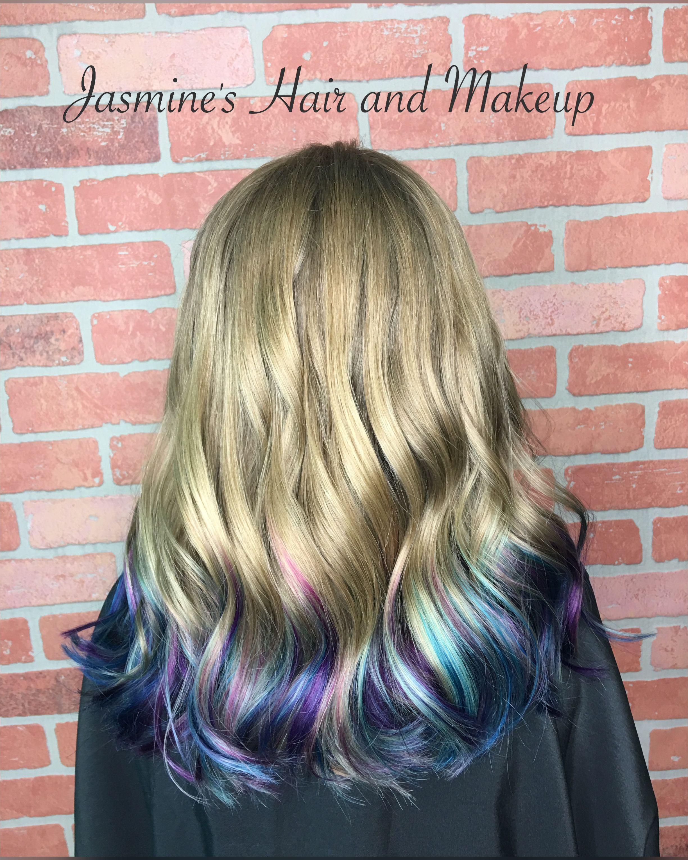 purple blue dip dye ombre kids