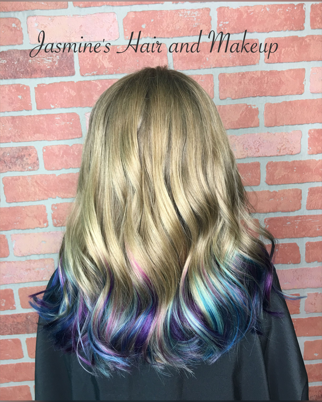 Purple Blue Dip Dye Ombre Kids Hair Kids Hairstyles Cool Hair Color
