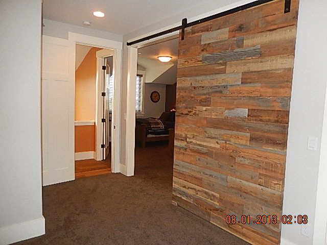 Cool way to have adjoin bedrooms with barn doors to make for Bedroom closet barn doors