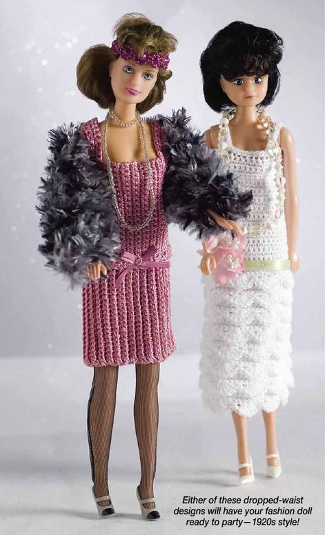 20\'s Flapper Dress for Barbie Free Crochet Pattern | Pinterest ...