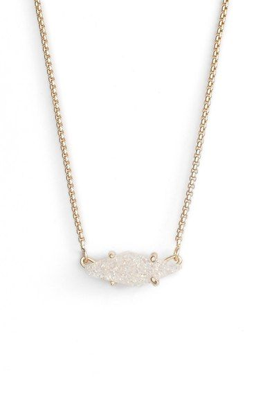 Iridescent Drusy/Gold Kendra Scott 'Bridgete' Drusy Pendant Necklace available at #Nordstrom