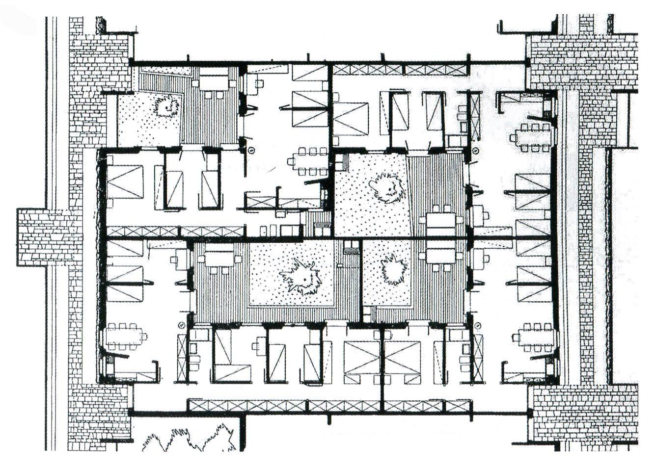 Adalberto libera unit di abitazione orizzontale for Planimetrie delle case americane