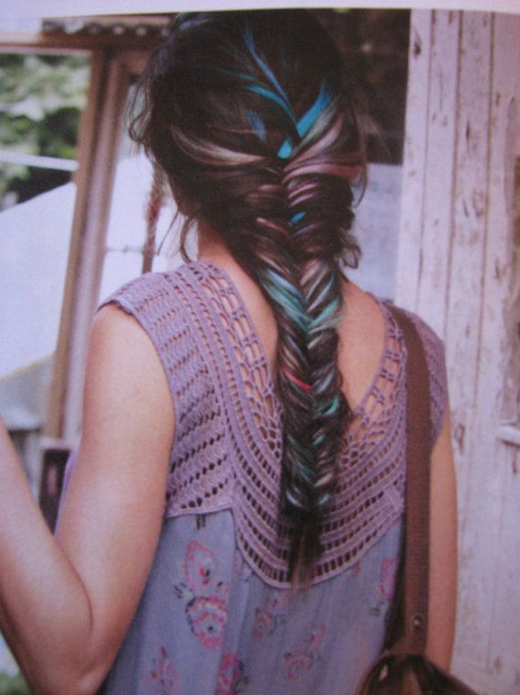 """R A I N B O W  jumbo fishtail braid/ pastel dip dye ombre hair extensions """"FREE PEOPLE"""" style"""