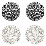 Swarovski Blow Pierced Earrings Set: Subtle and sparkly.