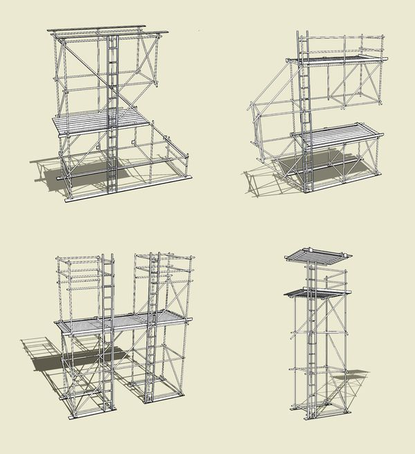 Typography Scaffolding Design Temporary Architecture Structure Design