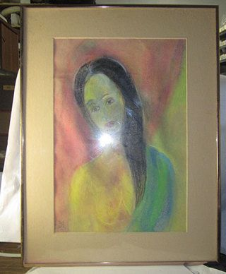 Free Form Modern Pastel Painting In Nice Frame Glass Pastel Painting Painting Glass Painting