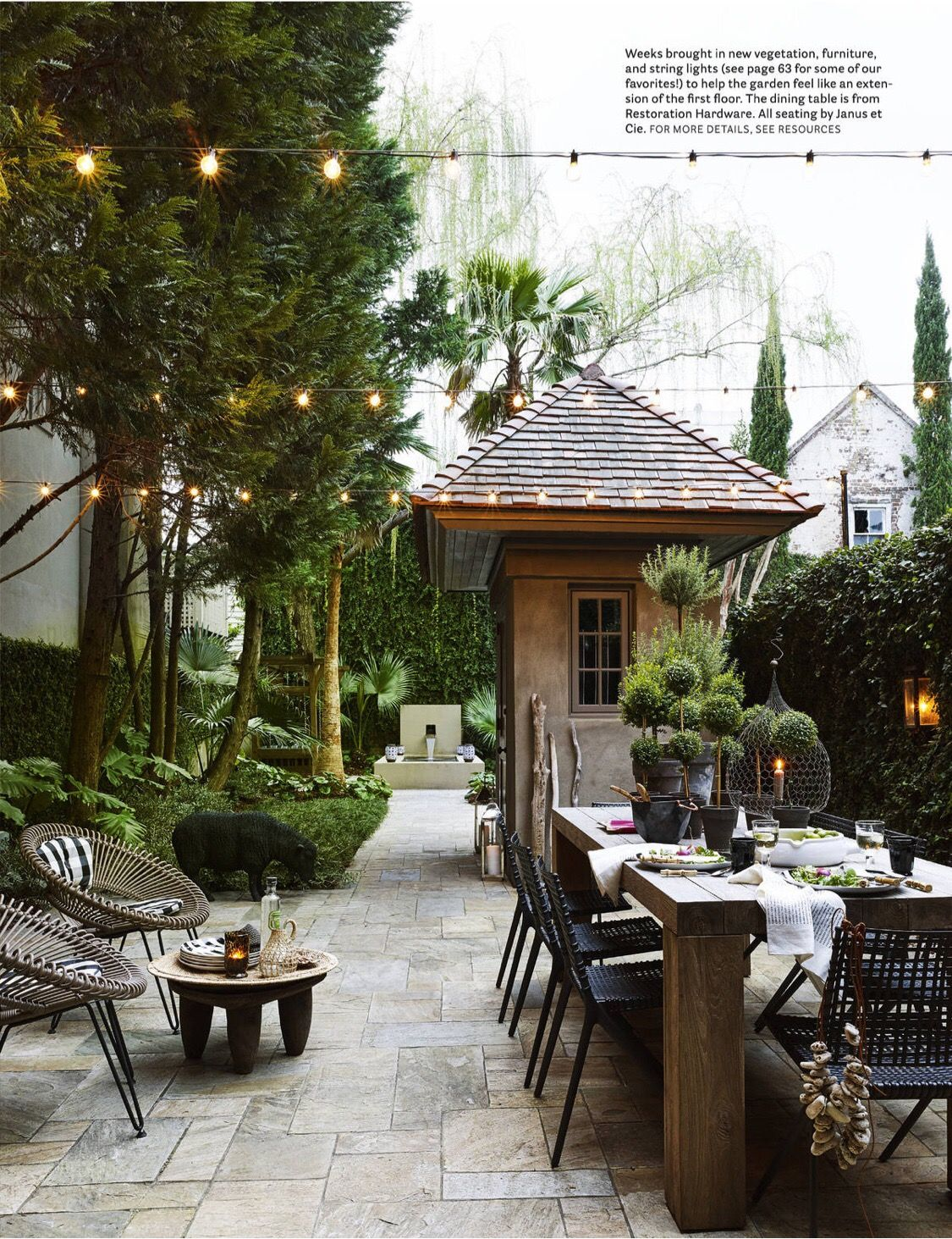 TRIBAL CHIC CHARLESTON HOME | Outdoor rooms | Pinterest | Jardins ...