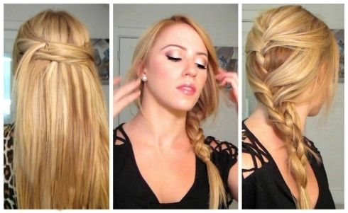 Cute Quick Hairstyles Fair Brilliant Easy Hairstyles For Straight Long Hair Photos  Hairstyles