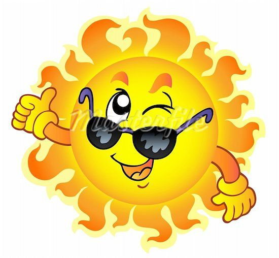 Cartoon Sun With Sunglasses Clipart Free Clip Art Images