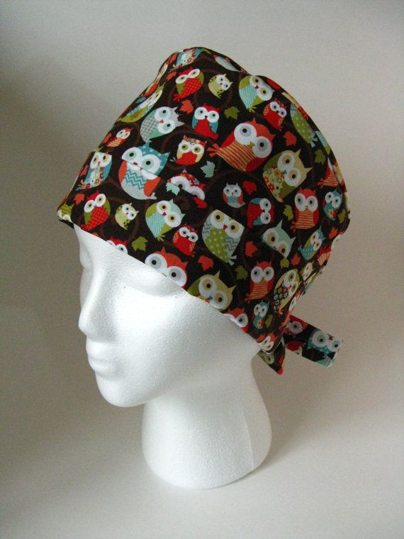 Medical Heath Care Surgical Pixie Tieback Scrub or Chemo Hat