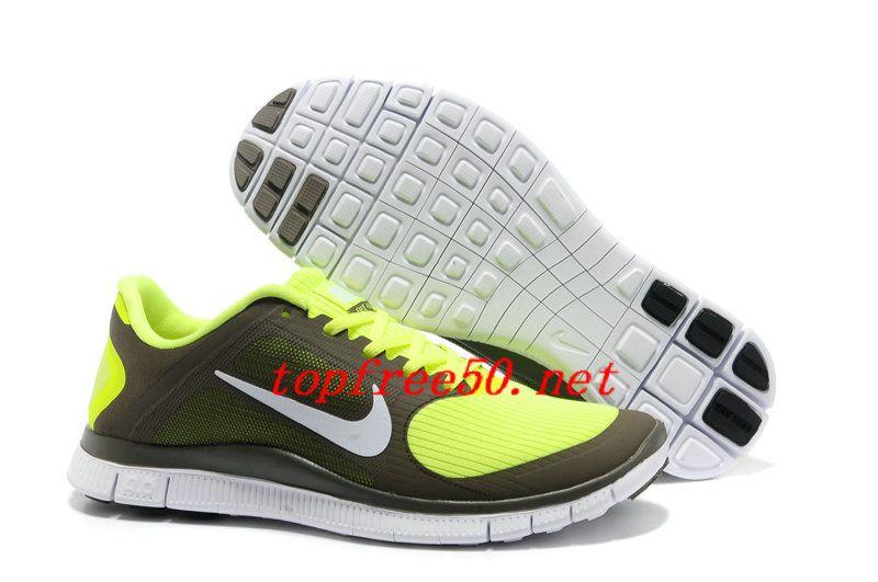 cP237X Olive Khaki White Volt Nike Free 4.0 V3 Women's Running Shoes