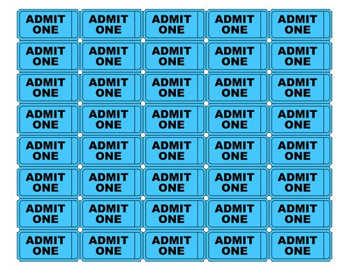 Admit One Tickets | It's my party | Pinterest | Classroom ...