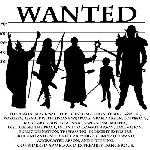 Dungeons and Dragons D\D Wanted Tshirt D20 by killerzombierobot - free wanted poster maker
