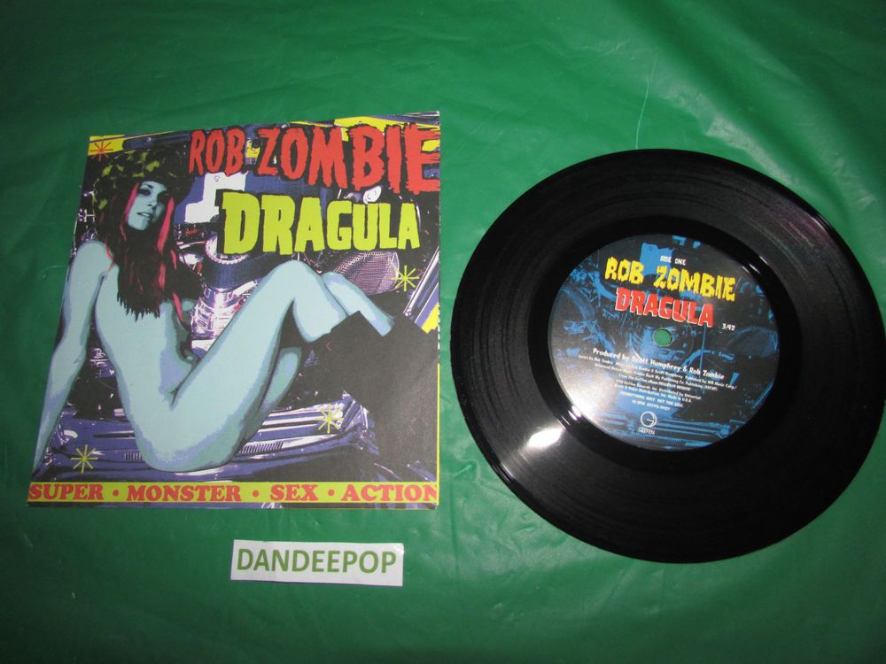 Rob Zombie 1998 Dragula / Super Monster Sex Action 45 RPM Music Record Unplayed Find Me at www.dandeepop.com
