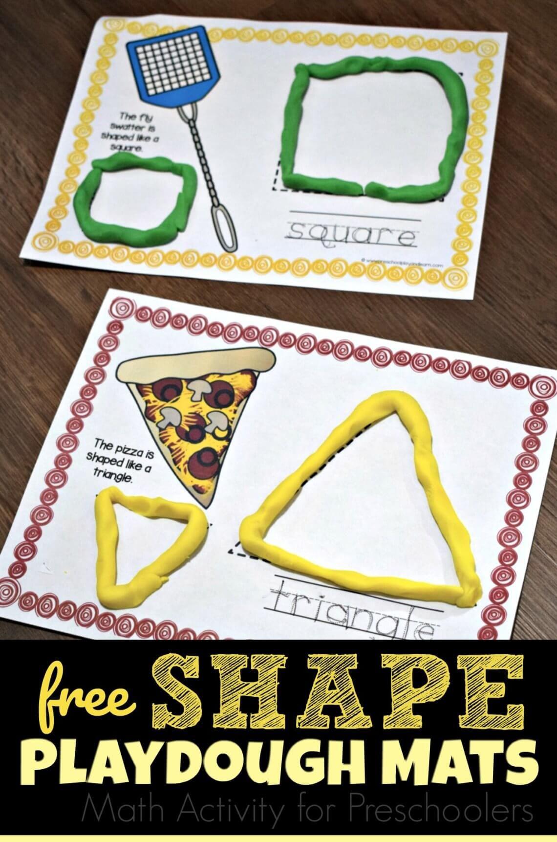 Free Super Cute Preschool Shapes Mats