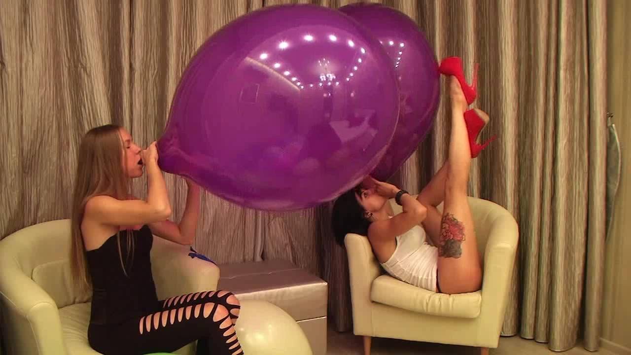 Btp b2p girls blow to pop balloons