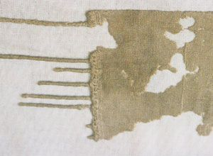 Fringed piece of plain linen. From Tell el Amarna, Egypt,  c. 1350 BCE. Bolton Museum
