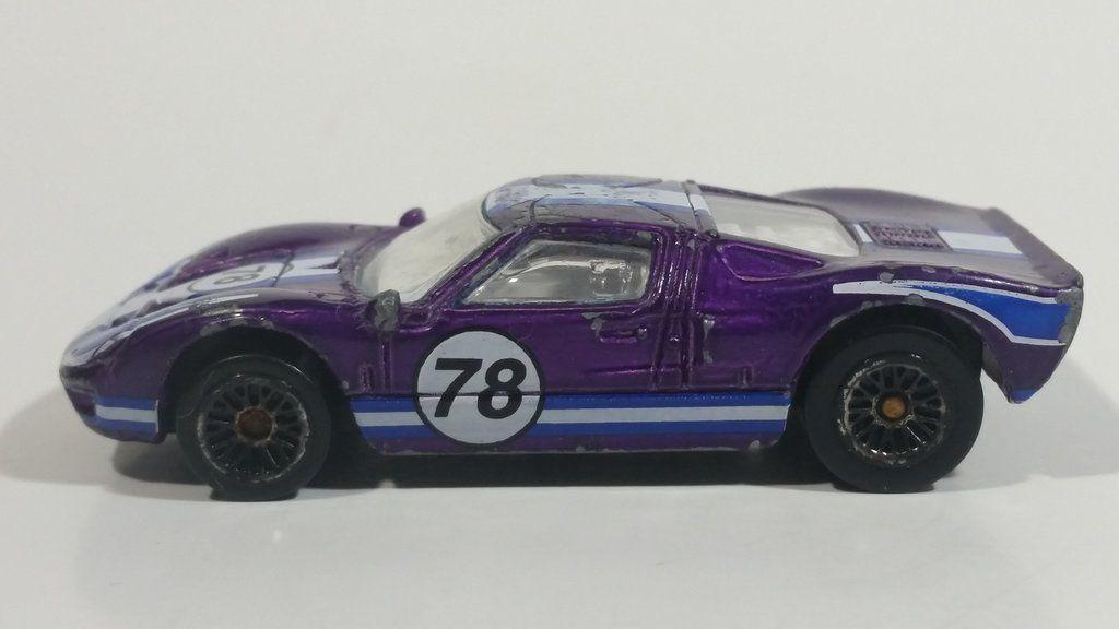 2001 Hot Wheels Ford Gt 40 78 Purple Die Cast Toy Race Car
