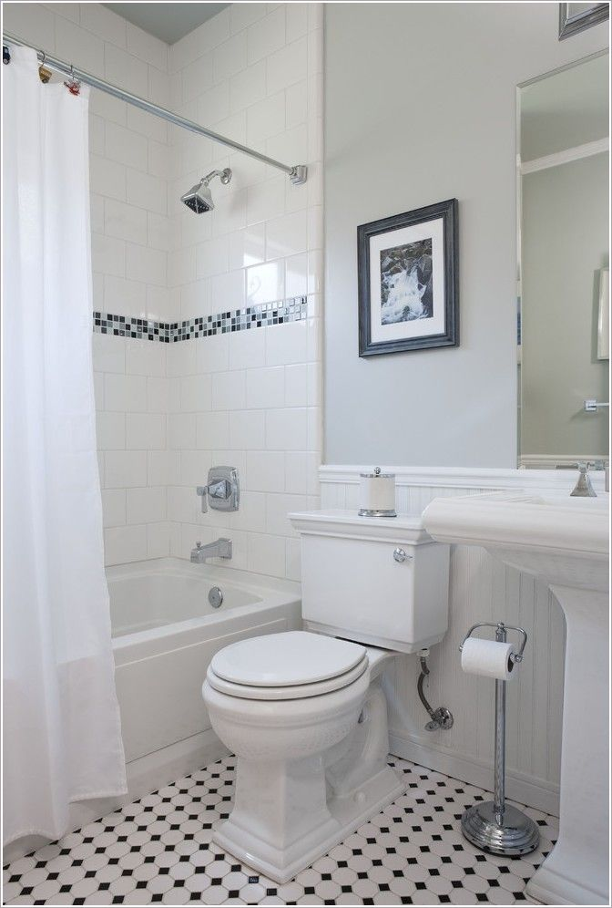 Beadboard And Tile Bathroom