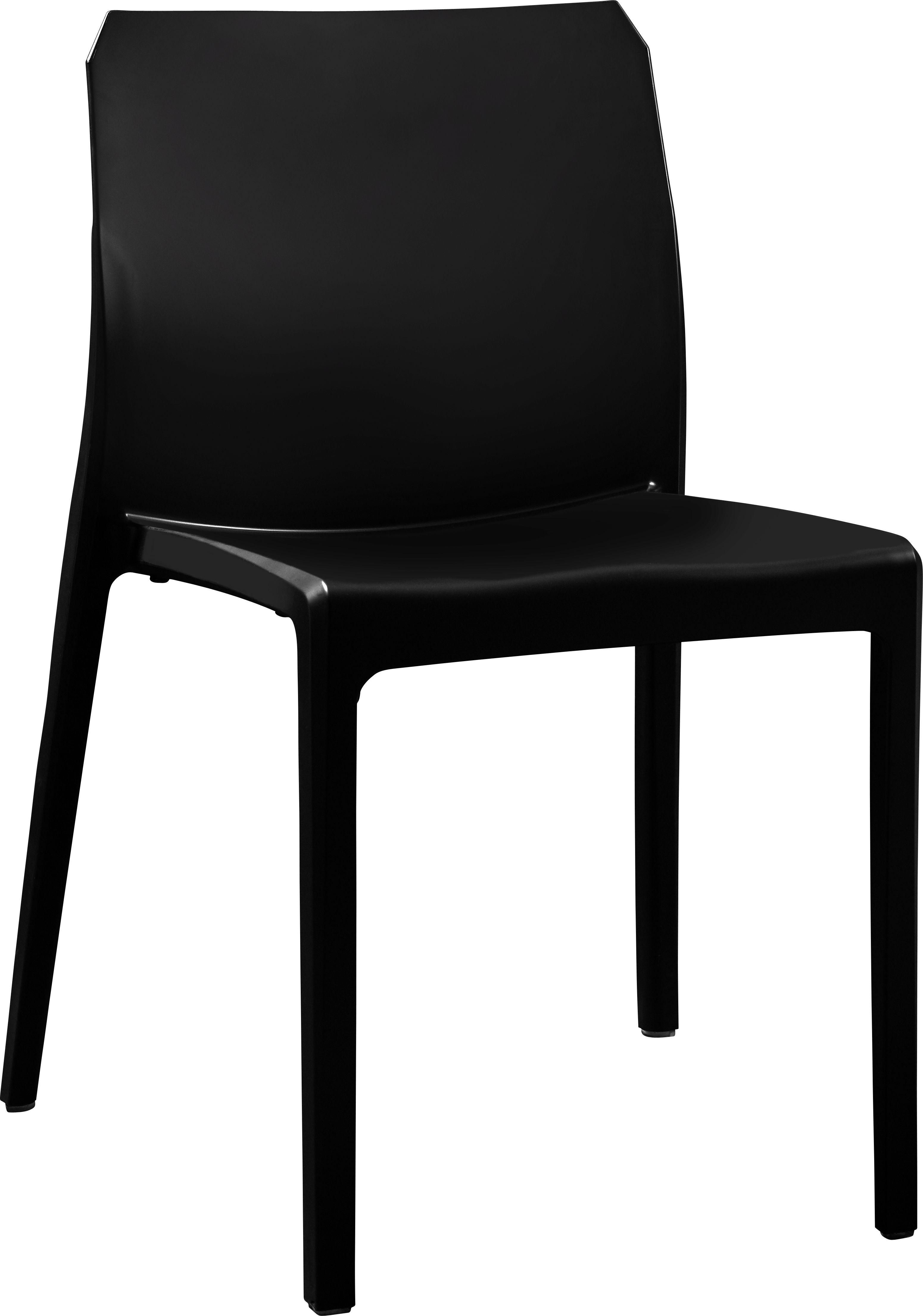 Malya Chaise En Polypropylene Et Fibre De Verre Noir Meubles De Patio Mobilier De Salon Chaise