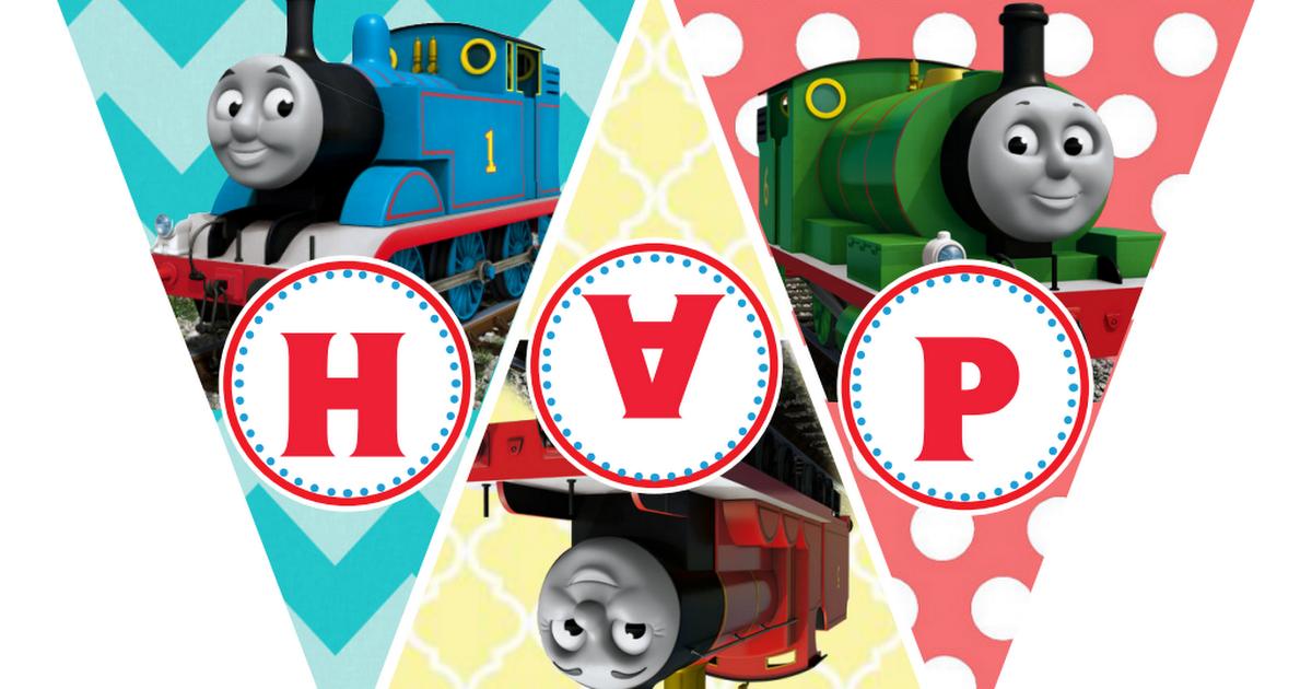Thomas The Train Printable Birthday Banner Birthday Party Ideas In