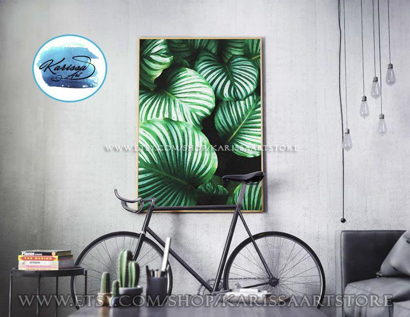 Tropical Leaf Print, Leaf Wall Art Print, Tropical Plant Print ...