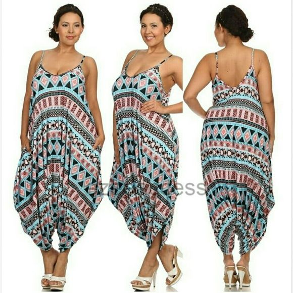 7d408dc170b Plus size harem Romper jumpsuit oversized boho Brand new without tags The  color may vary brighter   lighter than the actual product