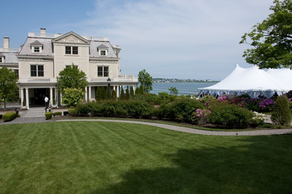 Still A Beautiful View From Our Cliff Lawn At Thechanler Rhode Island Wedding Venues Newport Ri Wedding Tent Reception